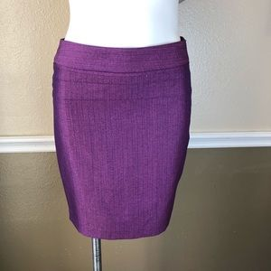 The limited purple pencil skirt size 4